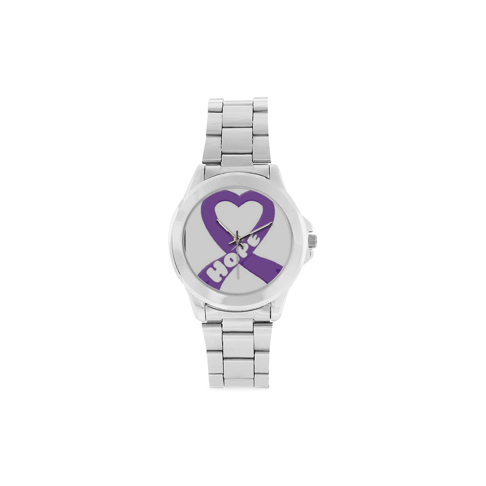 Heart Hope Purple Awareness