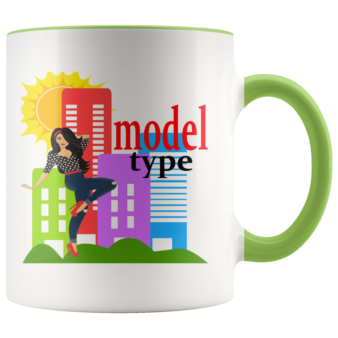 High Fashion Model Type Stylish Coffee Tea Mug