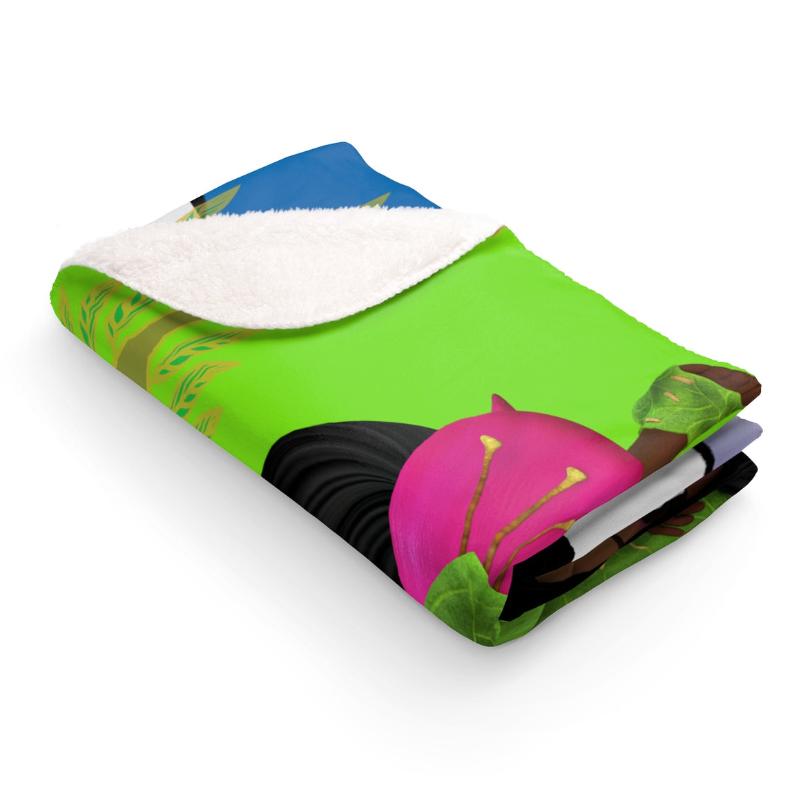 My Fabulous Style Made to Order In the Meadow Sherpa Fleece Blanket-Luxurious Fleece Blanket