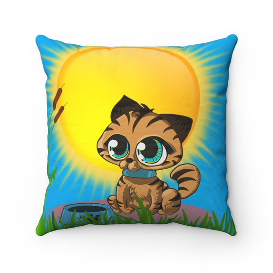 My Fabulous Style Beautiful Kids Sunshine Kitty Throw Pillow-- Throw Pillow for Children