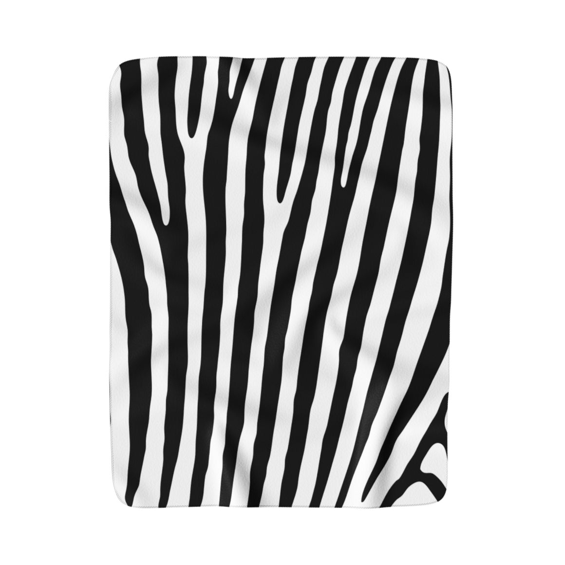My Fabulous Style Made to Order Zebra  Sherpa Fleece Blanket-Luxurious Fleece Blanket