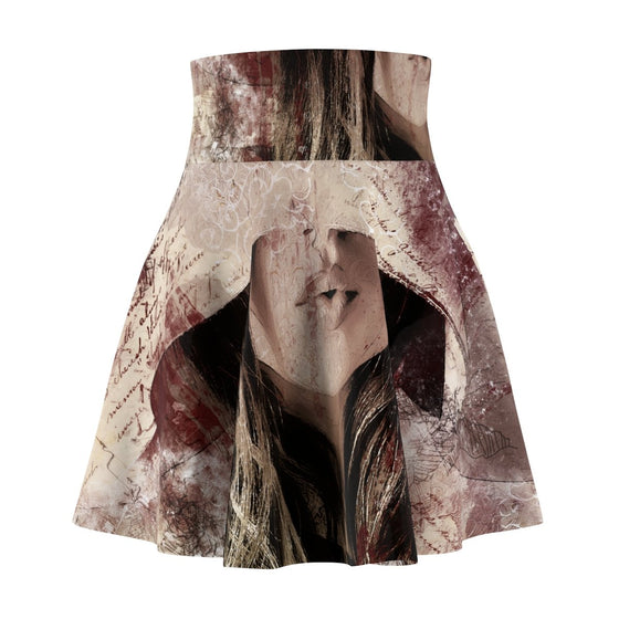 Fashionable A Woman's Face Women's Skater Skirt-Stylish Skater Skirt