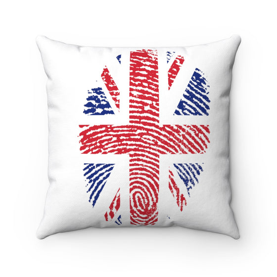 My Fabulous Style Beautiful British Fingerprint Flag  Fashion Square Throw Pillow- High Fashion Throw Pillow