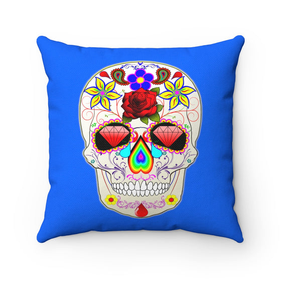 My Fabulous Style Beautiful Bejeweled Skeleton High Fashion Home Decor Throw Square Pillow-Home Decor Pillow for Women