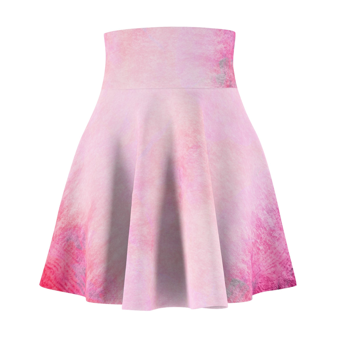 Fashionable Trendy Hot Pink Women's Skater Skirt-Stylish Skater Skirt