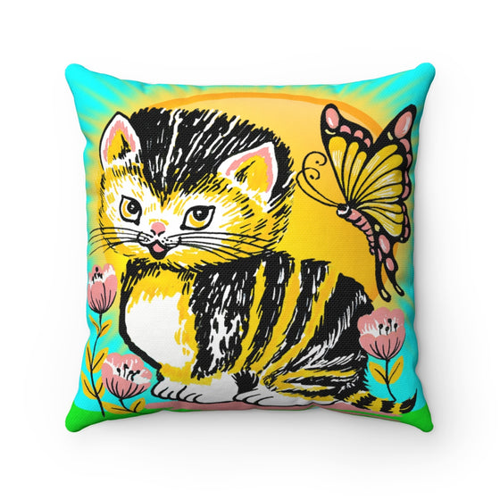 My Fabulous Style Beautiful Kids Cat Day Throw Pillow-- Throw Pillow for Children