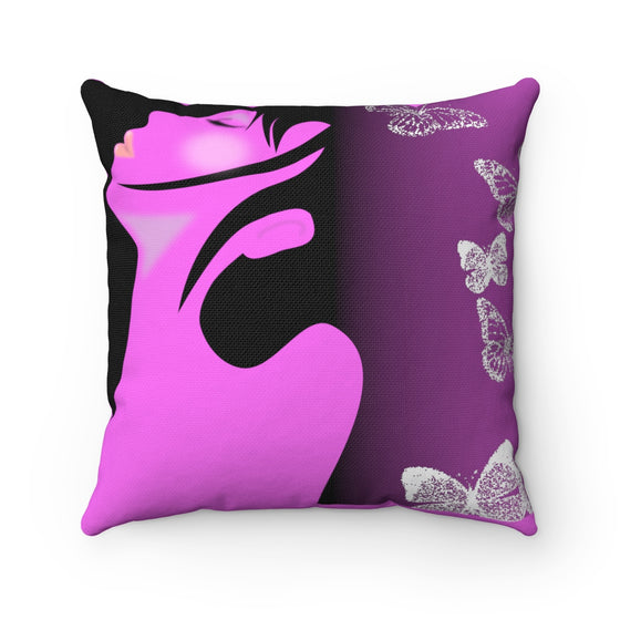 My Fabulous Style Beautiful Into the Breeze Square Throw Pillow-- Home Decor Throw Pillow