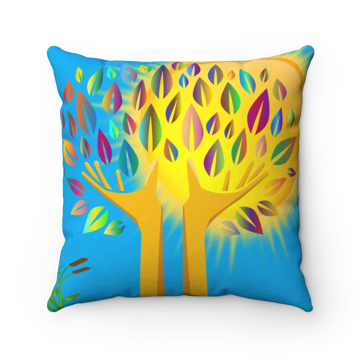 My Fabulous Style Beautiful  Magic Tree Square Throw Pillow-- Home Decor Throw Pillow