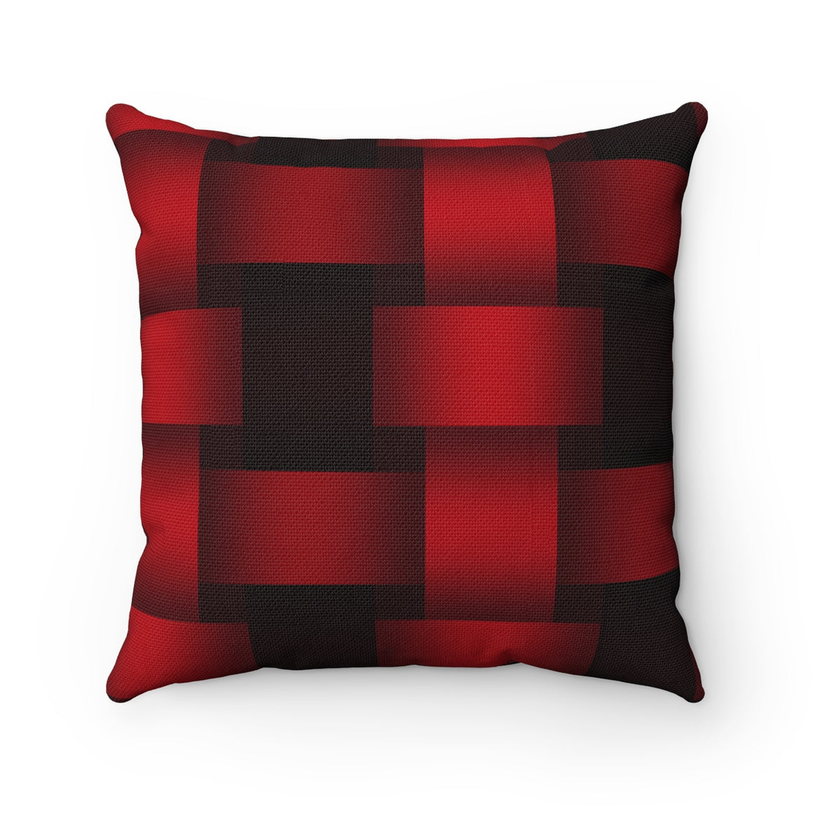 My Fabulous Style Beautiful Red and Black Tile Square Throw Pillow-- Home Decor Throw Pillow