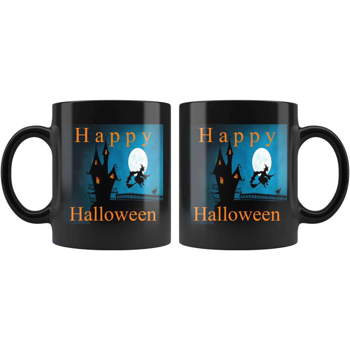 Cute Black 11oz Happy Halloween Coffee Tea Mug