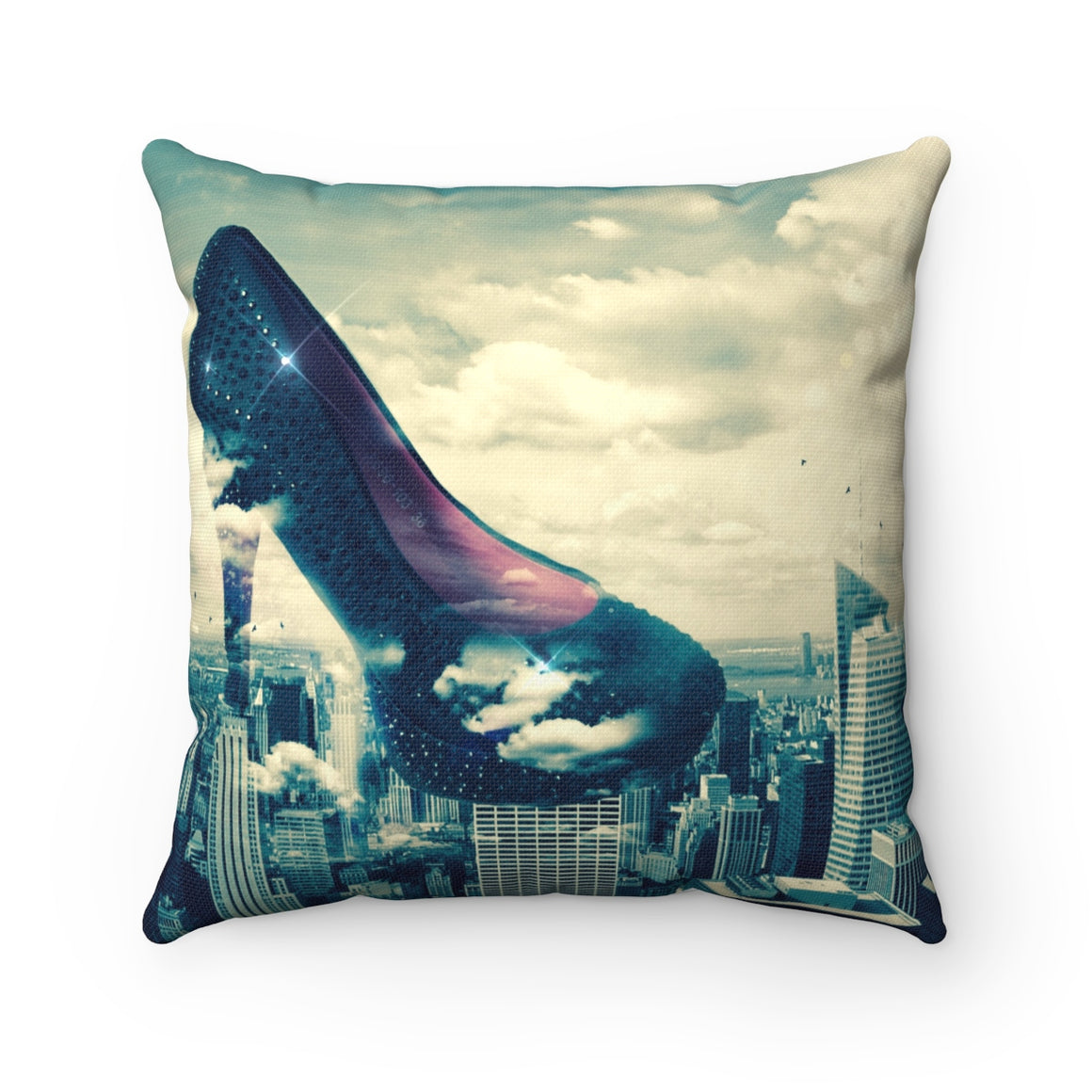 My Fabulous Style Beautiful Heels so High Square Throw Pillow-- Home Decor Fashion Throw Pillow