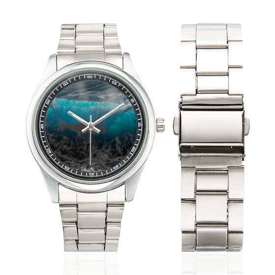 Blue Wave Man's Stainless Steel Watch