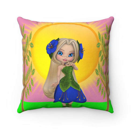 My Fabulous Style Beautiful Kids Flower Bella in the Sunshine Kid's Throw Pillow-- Throw Pillow for Children