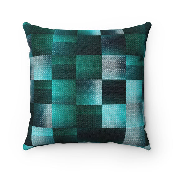 My Fabulous Style Beautiful BlueGreen Square Throw Pillow-- Home Decor Fashion Throw Pillow