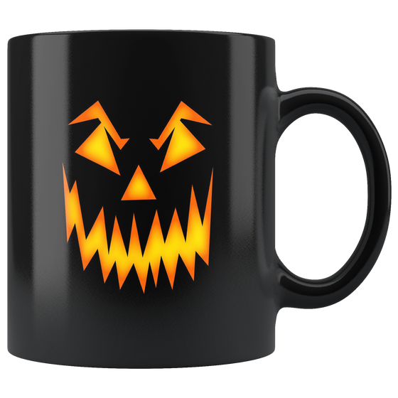 Scary Black 11oz Pumpkin Face Coffee Tea Mug