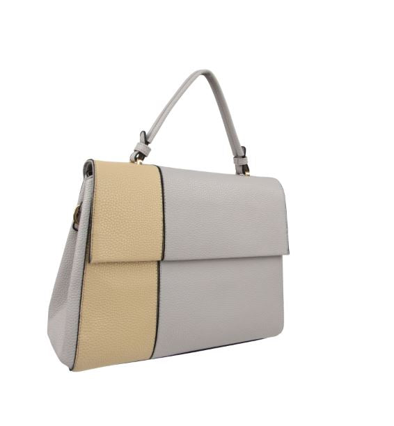 MINX POWER TOP HANDLE COLOR BLOCK BRIEFCASE