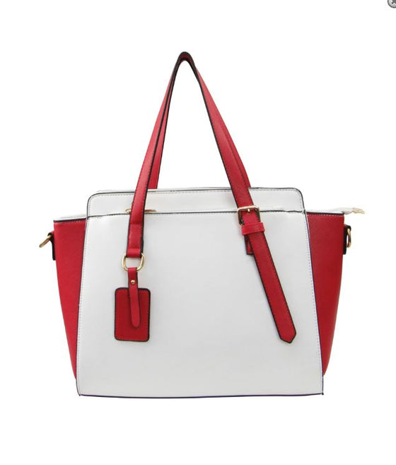 Boss Lady Two Tone Satchel