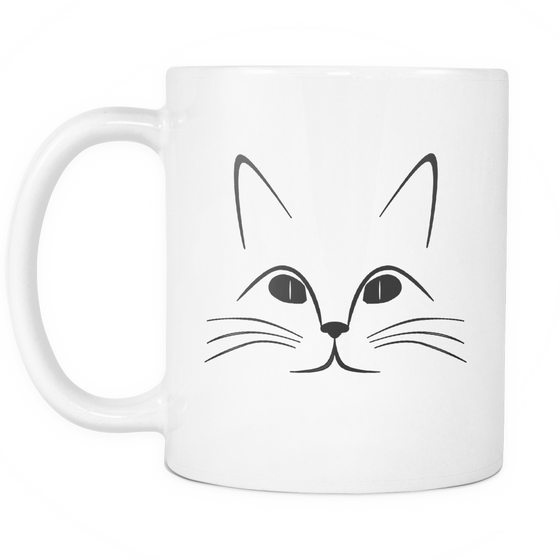 11oz Black Ceramic Coffee Mug For Cat Lovers Unique Tea Mug Online