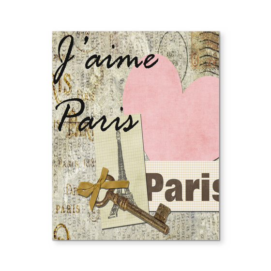 Paris Wall Art 8x10 Beautiful Vintage Paris Canvas Decor Eiffel Tower - My Fabulous Style