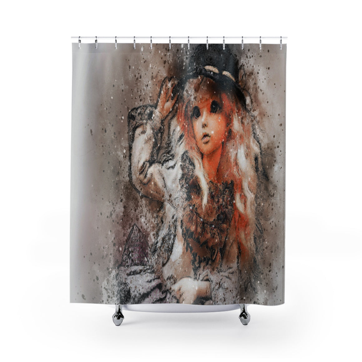 My Fabulous Style It's a Doll's World Shower Curtain--High Fashion Shower Curtains