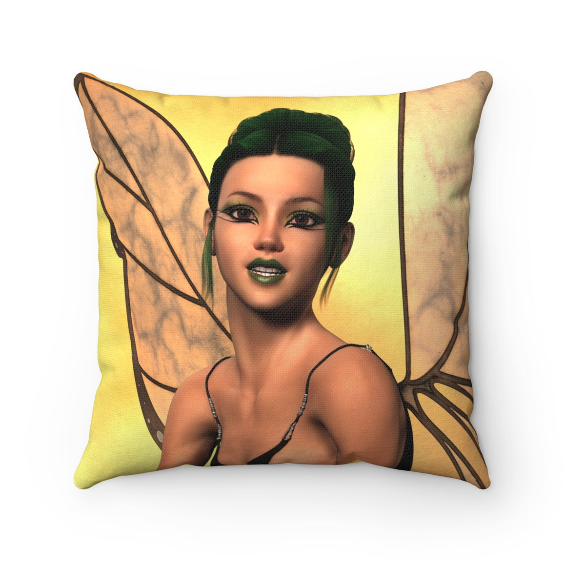 My Fabulous Style Beautiful Forever Fairy Square Throw Pillow-- Home Decor Throw Pillow