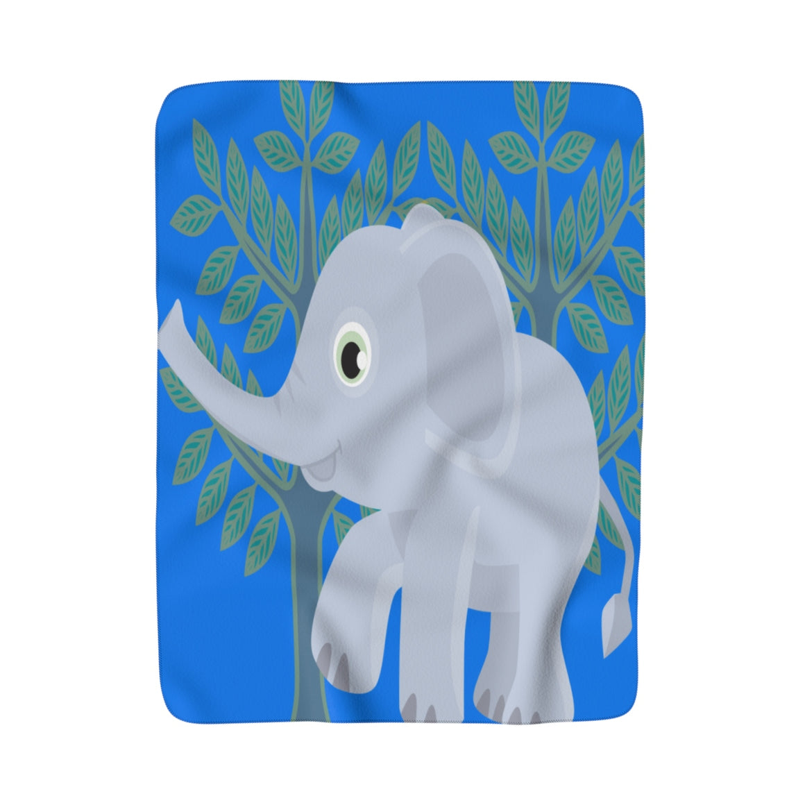 My Fabulous Style Elephant Fun  Sherpa Fleece Blanket-Luxurious Fleece Blanket