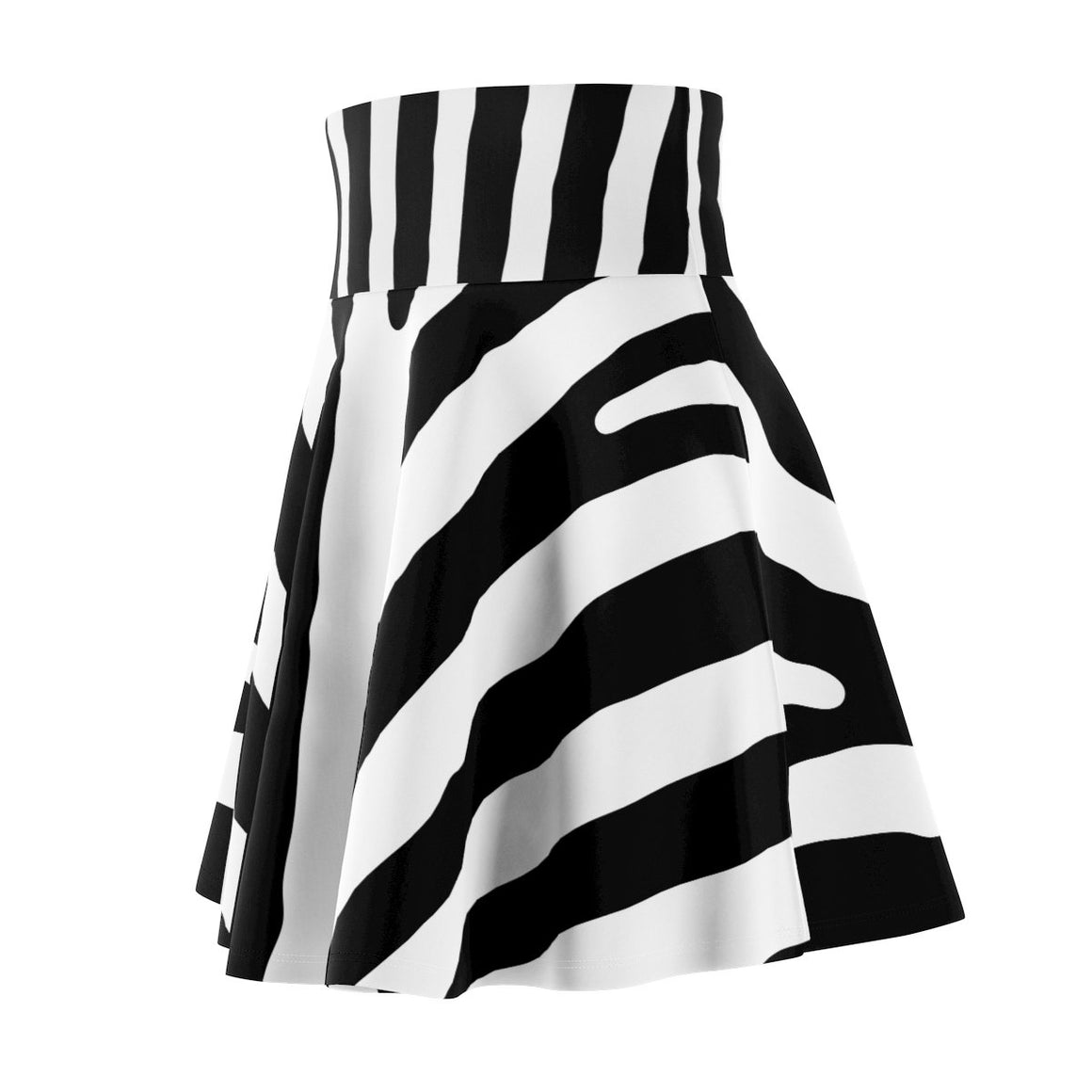 Fashionable Trendy Black or White Women's Skater Skirt-High Fashion Skater Skirt