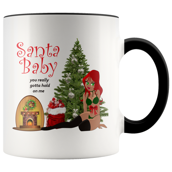 Hot Santa Baby Christmas Coffee Tea Mug