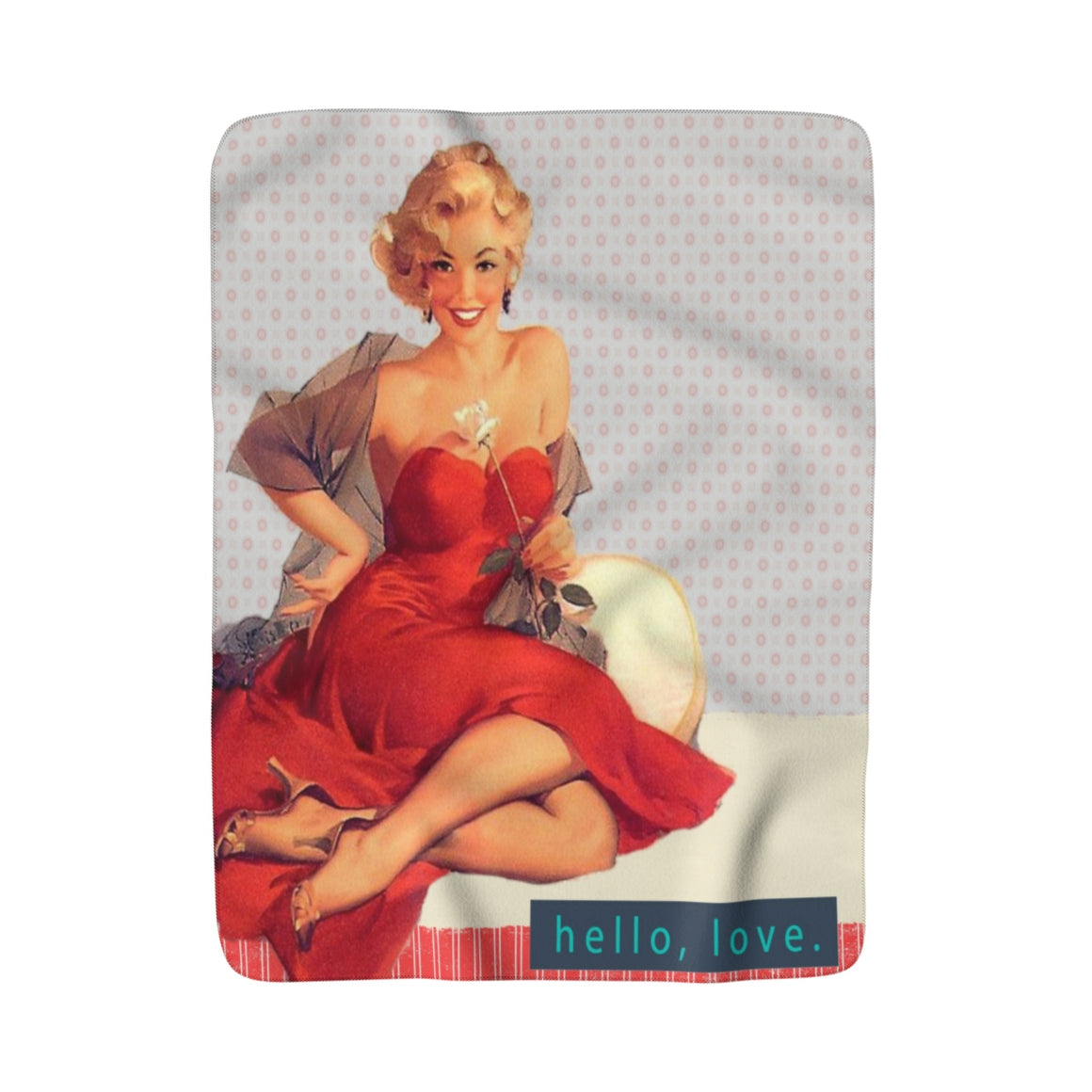 My Fabulous Style Made to Order Lady in a Red Dress  Sherpa Fleece Blanket-Luxurious Fleece Blanket
