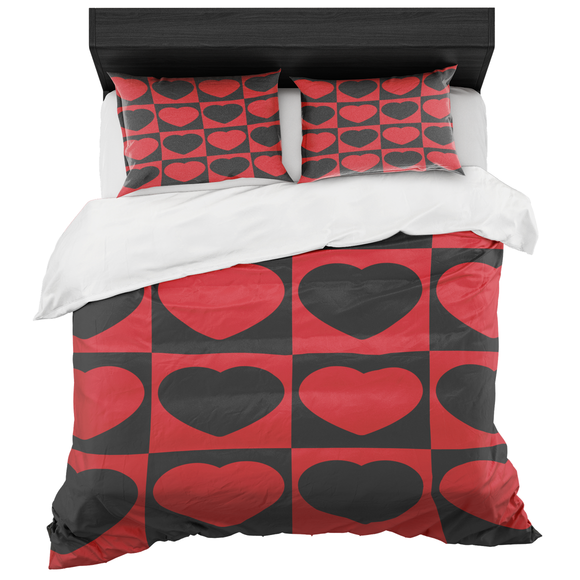 Chic Heart to Heart Duvet Cover Set King and Queen Duvet 2018