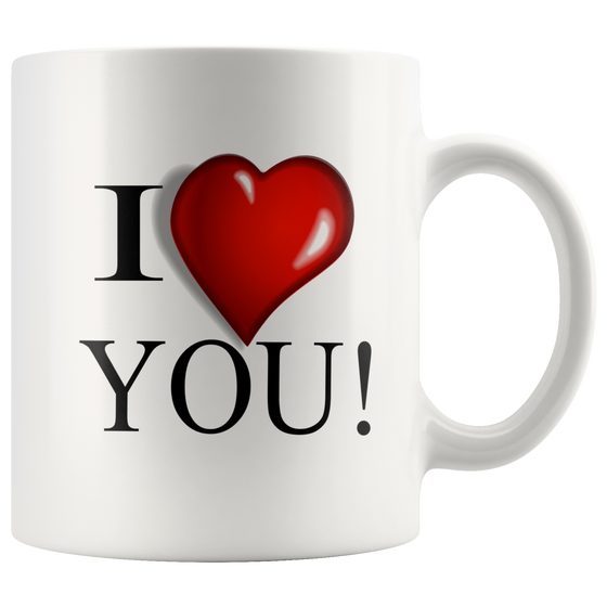 Beautiful White 11oz I Love You Unique Coffee Mug Online 2018