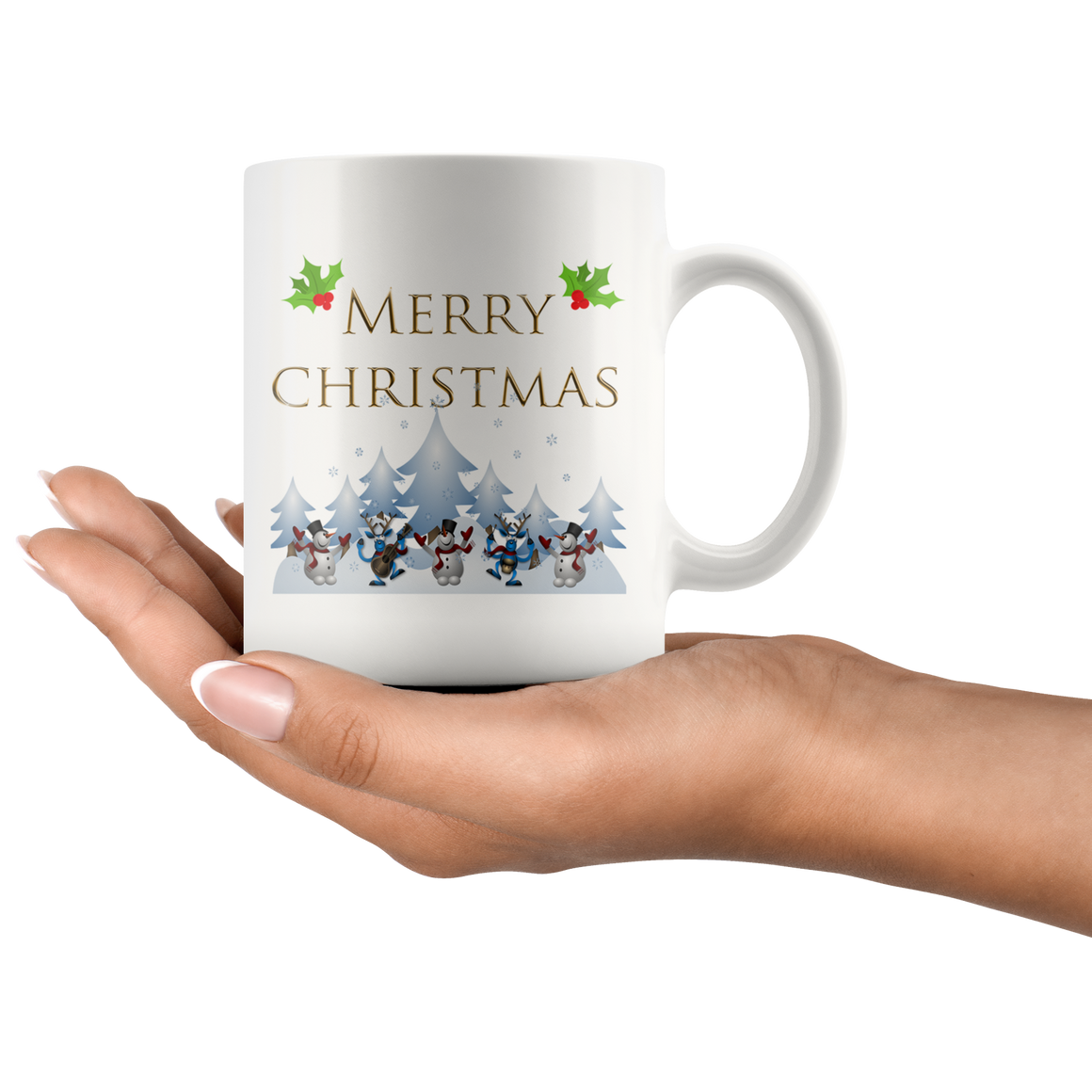 Cute White 11oz Merry Christmas Coffee Mug