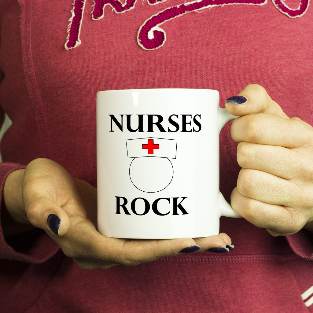 Coffee Mugs for Nurses--11oz White Nurses Rock Funny Coffee Mug, Coffee Mug, Coffee Mugs for Him, Coffee Mugs for Her - My Fabulous Style