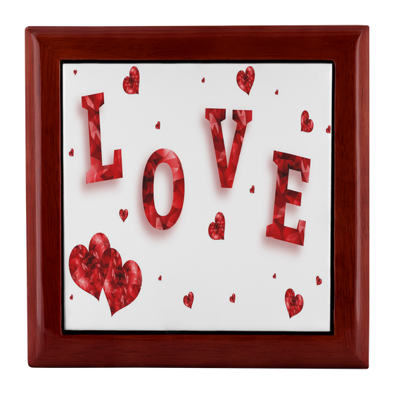 Hearts Of Love Jewelry Box