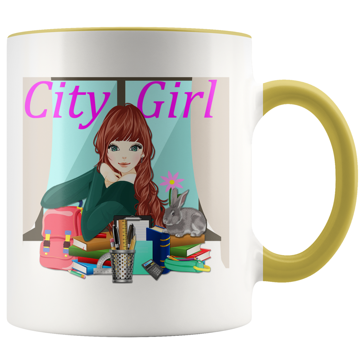 Stylish City Girl Cute Fashion Coffee Tea Mug