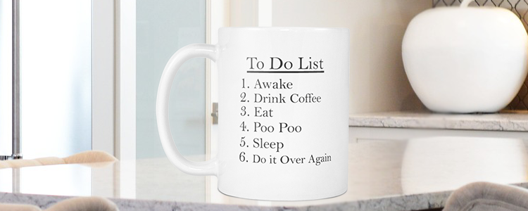 To Do List Funny Quote Coffee Mug 11oz Ceramic Funny Mug Funny Gift - My Fabulous Style
