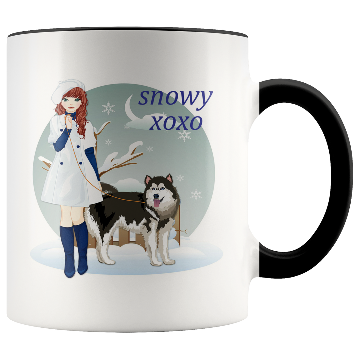 Cute Snowy XOXO Trendy Coffee Tea Mug