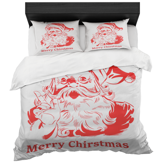 Chic Santa Merry Christmas Duvet Covers Set - Luxury Duvet Sets 2018