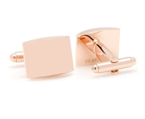 Ox & Bull Curved Rose Gold Cuff Links