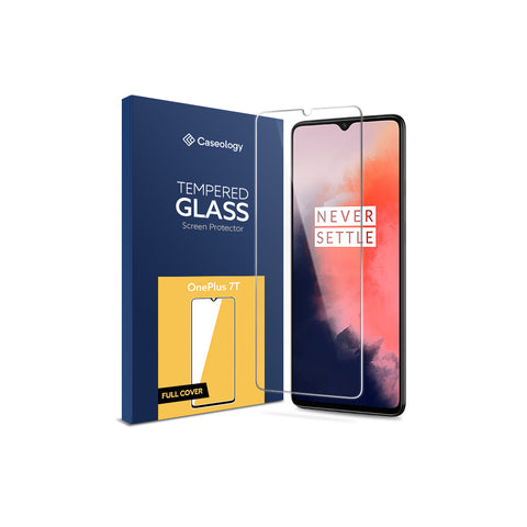 OnePlus 7T Tempered Glass Full Cover Screen Protector  1 Pack