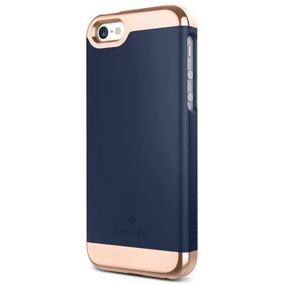 Caseology iPhone SE Case Savoy Series in Navy Blue