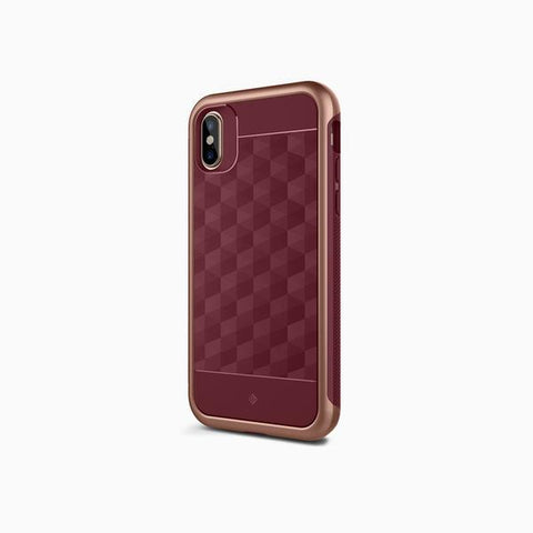 iPhone Cases -     iPhone Xs Cases Parallax  Burgundy