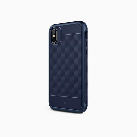 iPhone Cases -     iPhone Xs Cases Parallax  Navy Blue