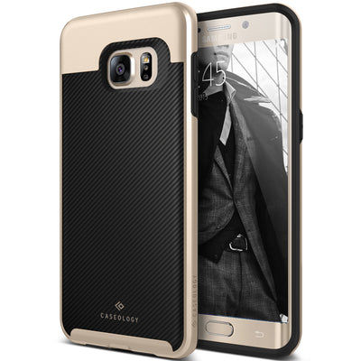 Caseology Galaxy S6  Edge+ Case Envoy Series in Carbon Fiber Black