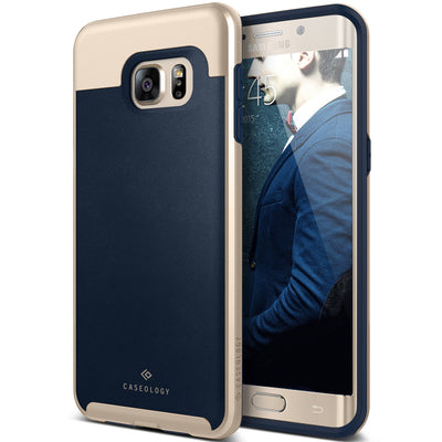 xCaseology Galaxy S6  Edge+ Case Envoy Series in Leather Navy Blue