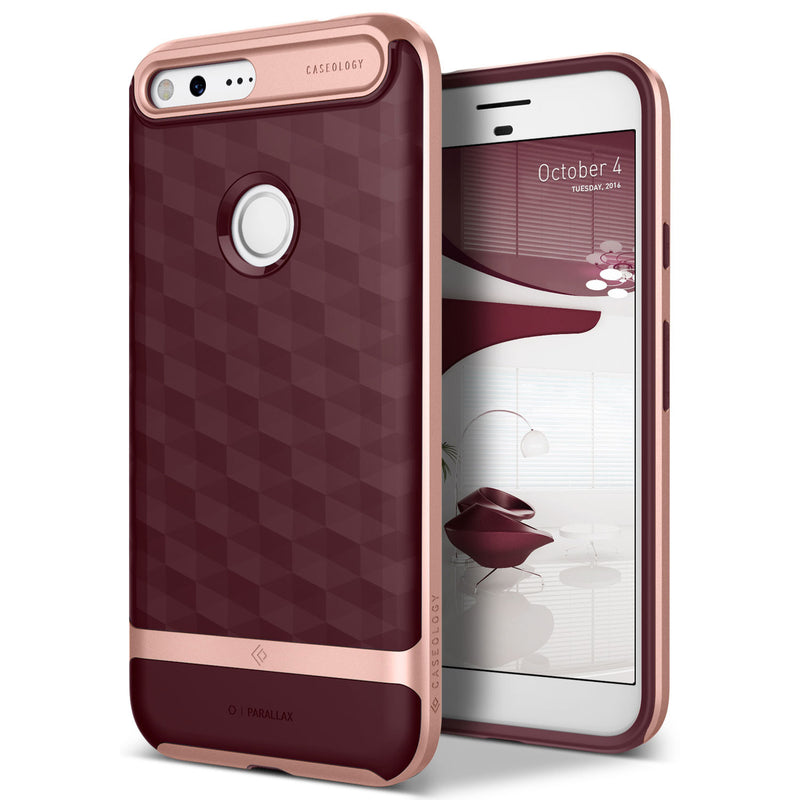Caseology Google Pixel XL Case Parallax Series in Burgundy