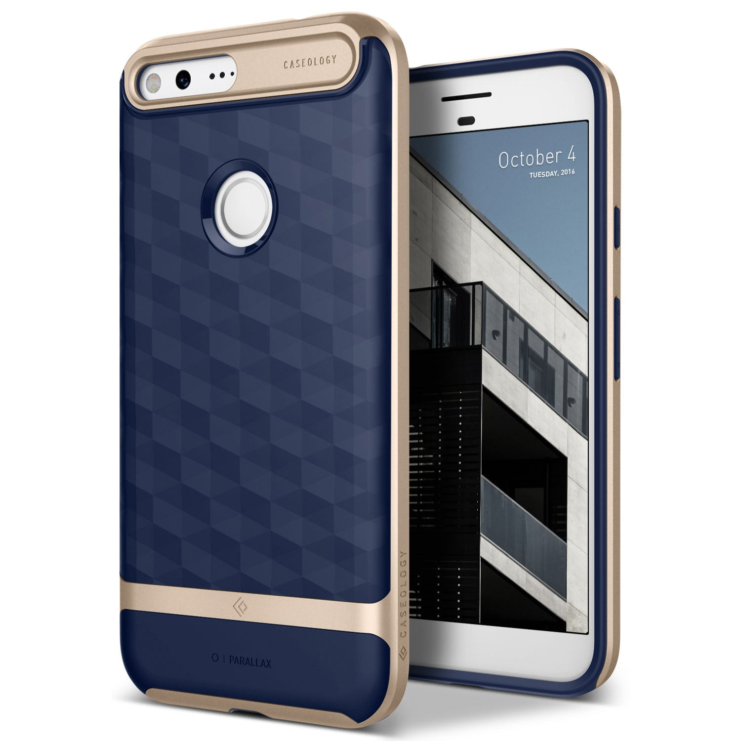 Caseology Google Pixel XL Case Parallax Series in Navy Blue