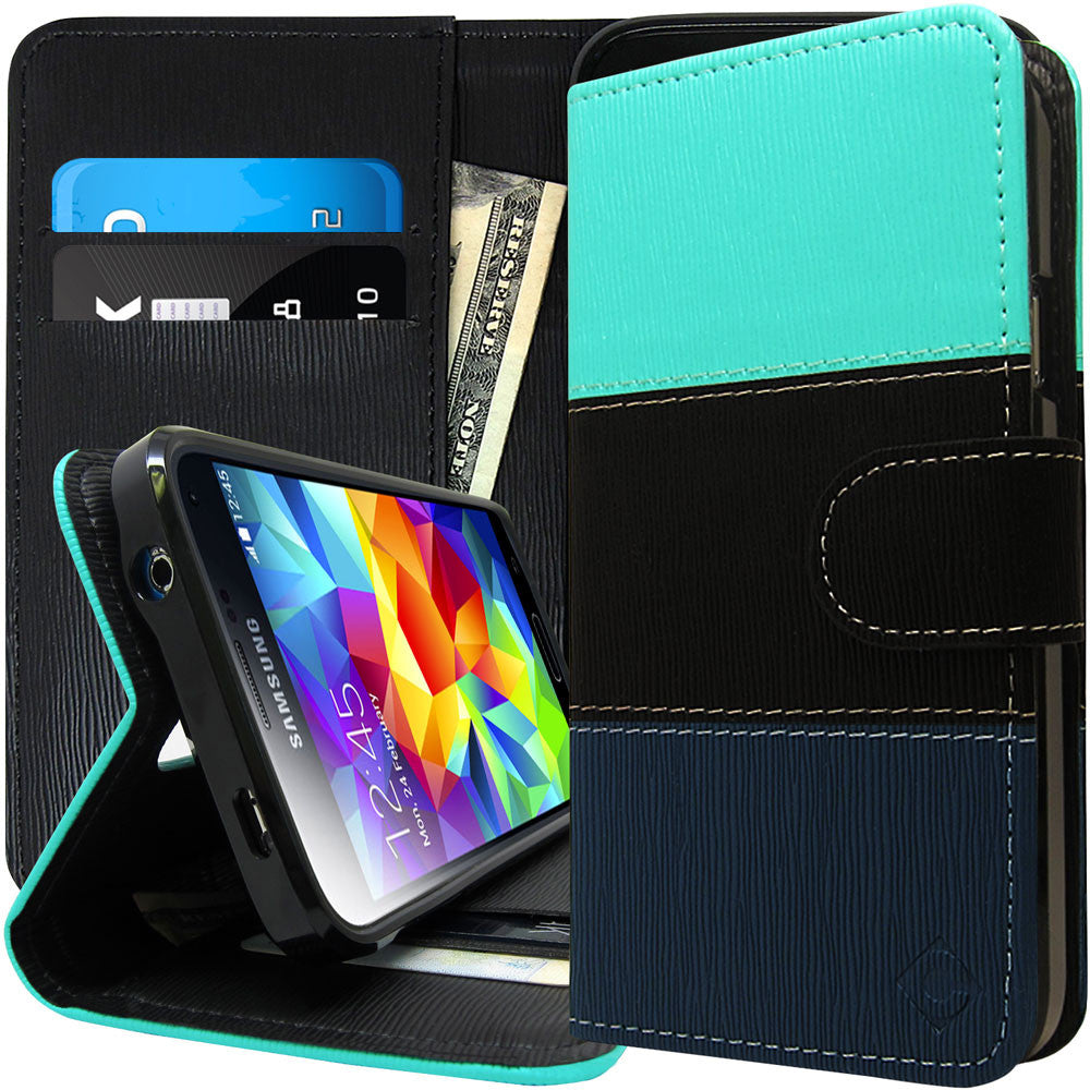 Galaxy S5 Case Leather Wallet