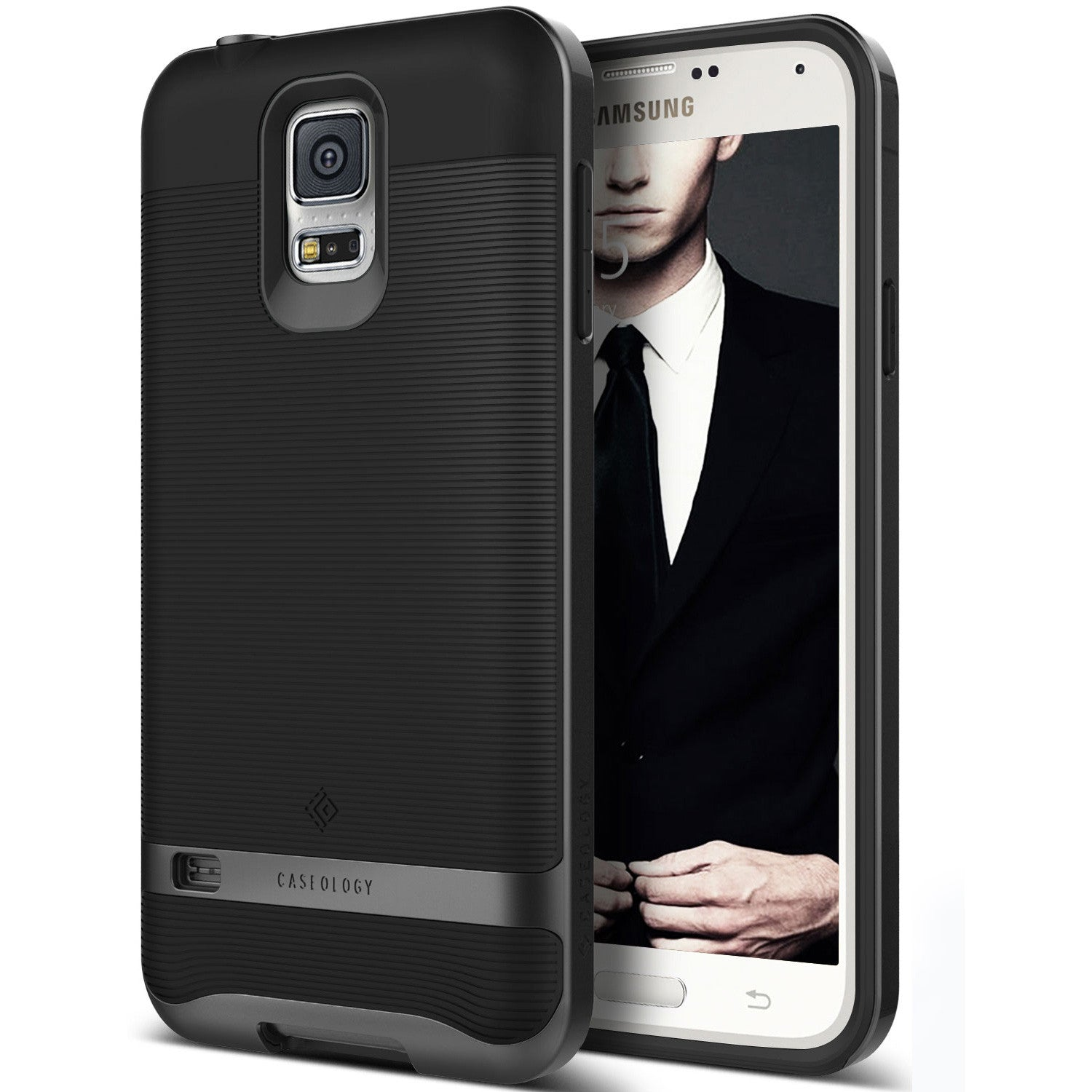 Caseology Galaxy S5 Case Wavelength Series in Black