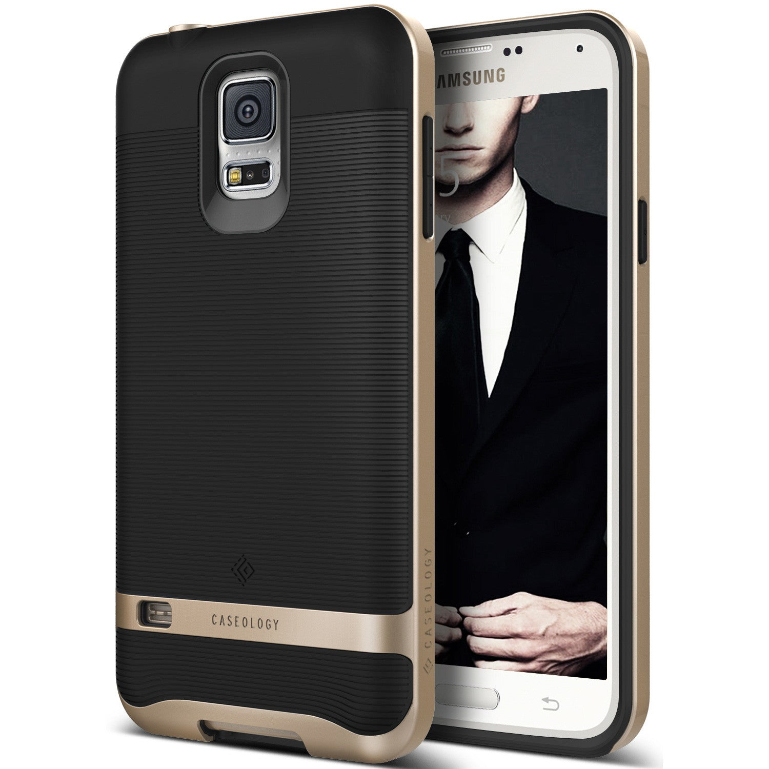 Caseology Galaxy S5 Case Wavelength Series in Black Gold